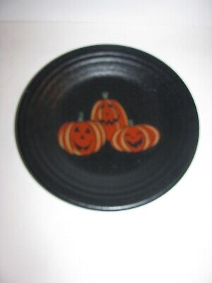 Fiestaware, Halloween, Trio of Happy Pumpkin, Lunch Plate, Fiesta, Black Foundry](Fiesta Halloween)