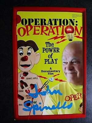 JOHN SPINELLO Hand Signed Autograph 4X6 Photo - GAME INVENTOR OPERATION