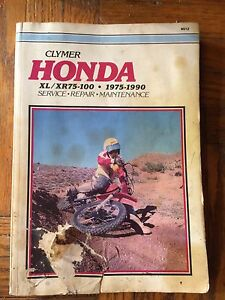 1975-1990 Honda Clymer XR XL 75 80 100 Service Manual