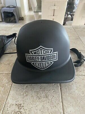 Mikes Pro Lid Doughboy Matte Balck Motorcycle Customized Harley Davidson Helmet!