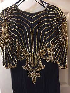 Beautiful black and gold dress