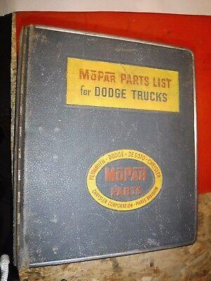 1963-68 DODGE S SERIES TRUCK VAN FACTORY PARTS CATALOG LIST MOPAR BINDER MANUAL ()