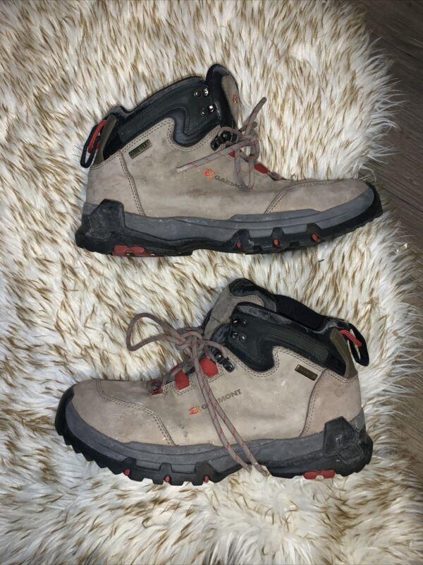 Garmont Mens 13 Hiking Boots Gore-tex Beige Red