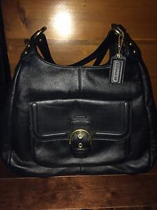 Black Leather Coach Bag NEW