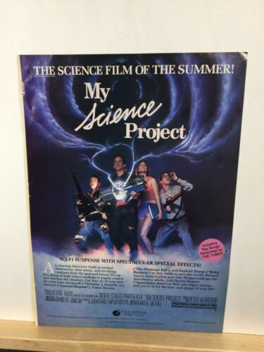 """Vintage 1986 Print Ad Advertisment MY SCIENCE PROJECT Movie video poster 11""""x8"""""""