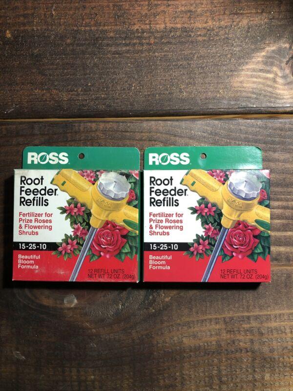 2 Ross Rose & Flowering Shrubs Fertilizer Refills for Ross Root Feeder 15-25-10