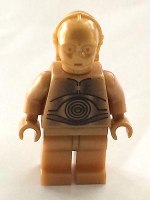 Lego New Pearl Gold Minifigure Head Modified Star Wars C-3PO K-3PO Droid