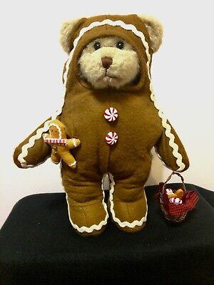 Creative Design Plush Teddy Bear Gingerbread Man Costume Halloween & Christmas
