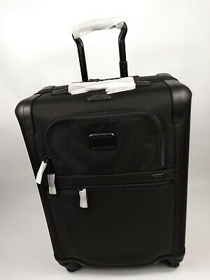 TUMI Alpha 2 Continental EXPANDABLE 4 Wheel Carry On Suitcase - BLACK 220611D2U