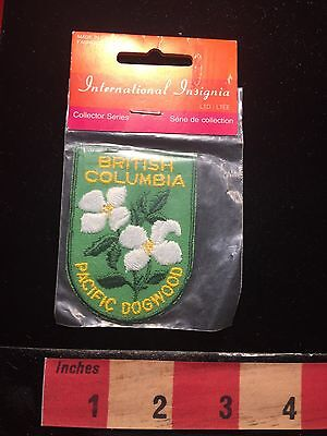 Canada Travel Patch ~ Pacific Dogwood Of British Columbia 67A