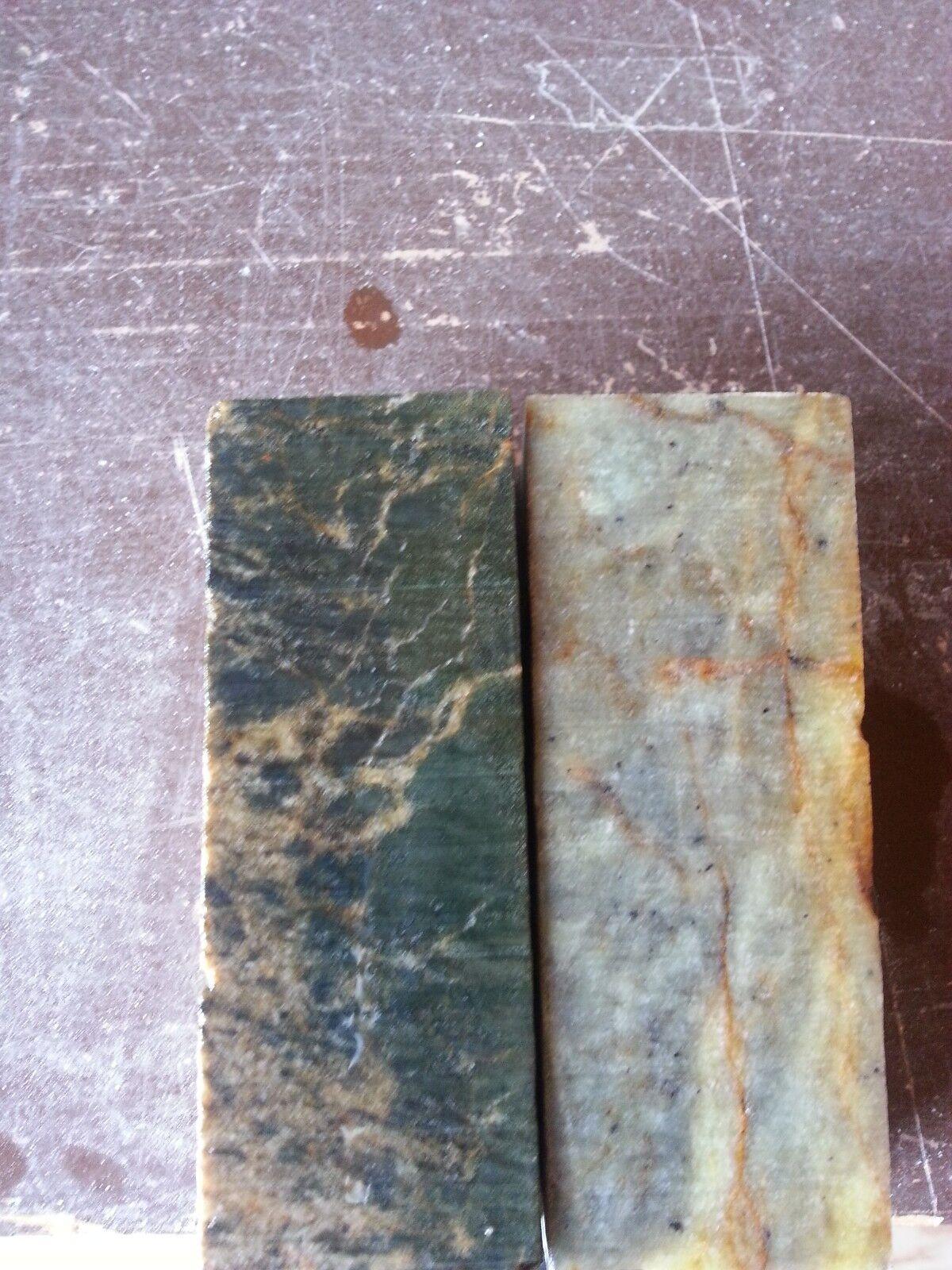 2PCS 4x1-1.5x1-1.5 Soapstone for carving, block, slab, pipe making, pendants