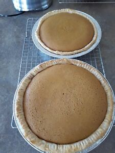 Homemade pumpkin pies