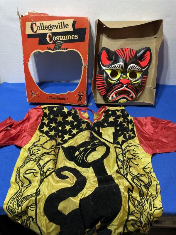 Vintage Collegeville Black Cat Halloween  Costume