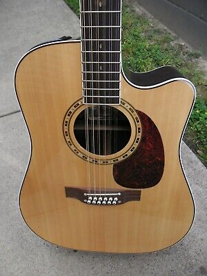 Takamine 12 String Acoustic Electric Guitar EF400SC Pro Series Rare W/Case