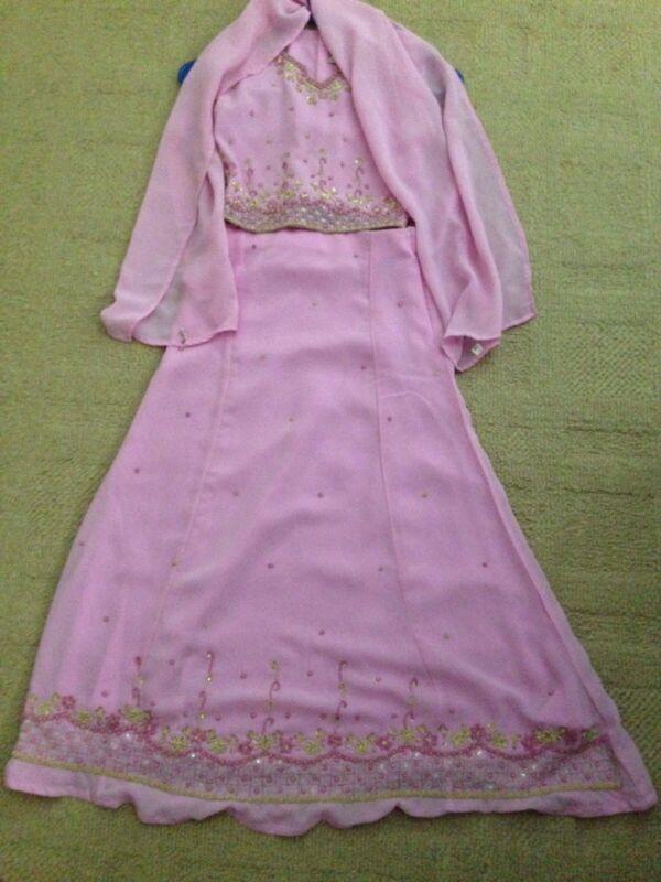 Indian lehanga choli in light pink color