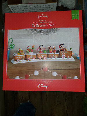 2016 Hallmark Disney Christmas Express Collector's Train Set SE Mickey Minnie