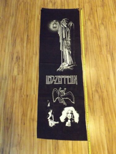 """VERY RARE EARLY ORIGINAL 72"""" X 22"""" LED ZEPPELIN SILK RECORD STORE BANNER"""