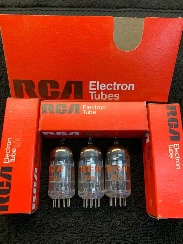3 NOS NIB Matched RCA 12AT7 6679 Tubes USA 1977