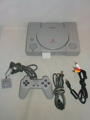 Playstation (SCPH-5501) w/ Power Cord, A/V Cables, 64 MB Memory Card, Controller