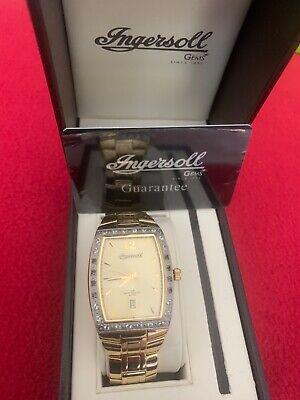 ingersoll 18 carat gold plated gems mens watch IG0257 model