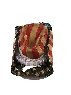 Red White And Blue Cowboy Hat (Peter Grimm Blue Justice, Red, White, Blue Cowboy Hat)