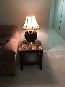 Nice brown lamp with tanned hat (like NEW!!!) Kitchener / Waterloo Kitchener Area image 1