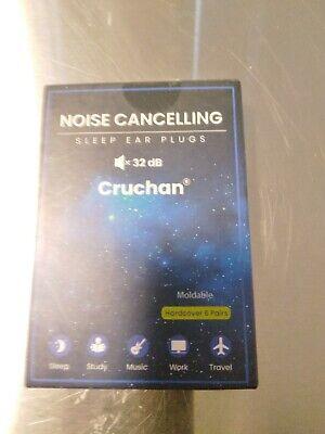 Cruchan Noise Cancelling Sleep Etc Ear Plugs Hardcover 6 Pair