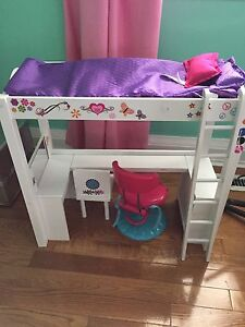 Journey Girls bed and desk + accessories