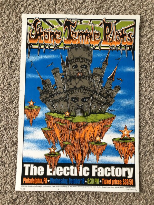 Stone Temple Pilots 2002 Silkscreen Music Poster - Jeff Gaither S/N /175