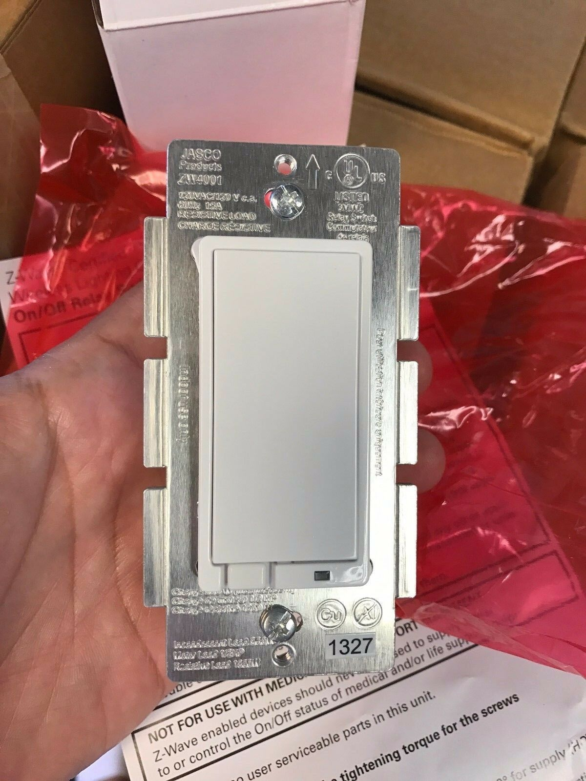 Jasco Zw4001 Z Wave Wireless Lighting Control On Off Relay Switch Replacing Existing Outlet With An X10 Sr227 Questions Homeseer White