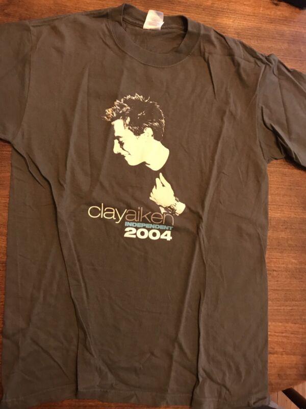 Clay Aiken 2004 Independent Tour Concert T SHIRT Medium American Idol