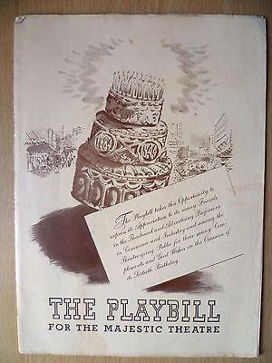 1944 PlayBill Majestic Theatre Programme: Jan Kiepura-THE MERRY WIDOW: Y M Irion