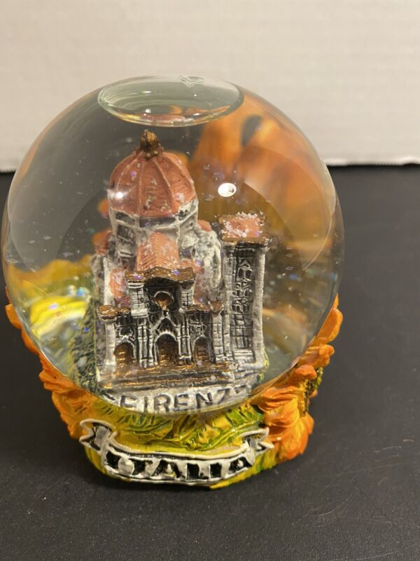 Snow Globe, Cathedral,Florence Italy ,Souvenir .
