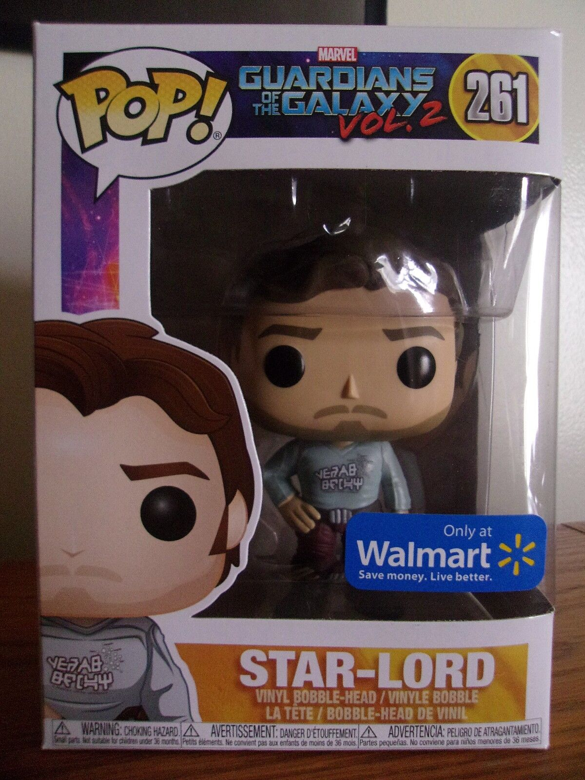 Star-Lord Gear Shift Shirt 261 with Sticker FUNKO Guardians of the Galaxy 2 POP