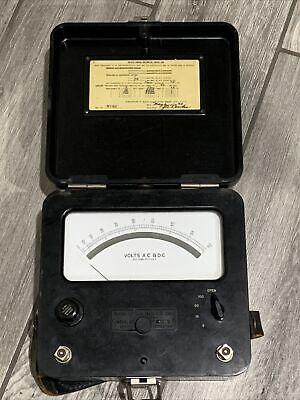 Weston 622 Dc Voltmeter Vintage