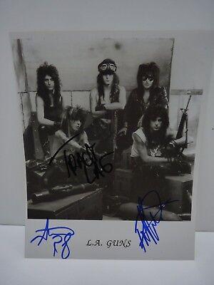 Guns All 5 Original Band Signed Autographed Magazine Photo Psa Guaranteed Special Summer Sale L.a Rock & Pop Autographs-original