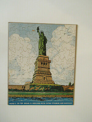 "Vintage Ward""s Tip-Top bread jigsaw puzzle""STATUE OF LIBERTY"" complete"