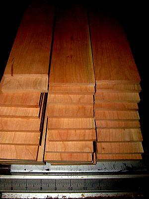 Fifteen  15  Thin  Kiln Dried  Sanded Cherry 12 X 3 X 1 4  Lumber Wood