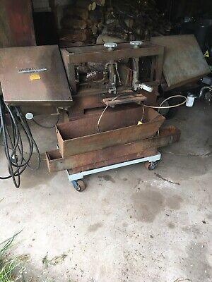 W.f. Wells L-9 Horizontal Metal Cutting Bandsaw Hydraulic Feed 9 X 12 12 Hp