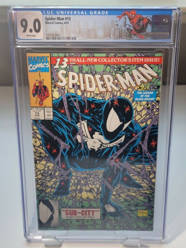 CGC GRADED (9.0) Spider-Man #13  Marvel 1991 White Pages Comic Book Custom Label