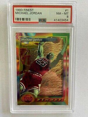 1993 Finest Michael Jordan PSA NM-MT 8
