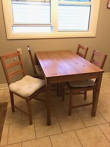IKEA Kitchen table and chairs.