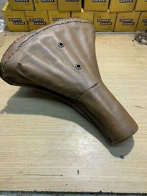 Vintage Brown Sprung Bicycle Saddle, Middlemore Brooks #690