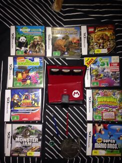 DS Mario Special Edition + 9 Games, Charer, Case And 2 Spare Pens