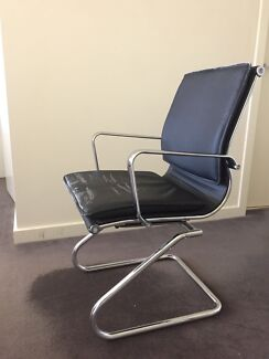 Used Office Chair - Leather & Chrome