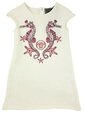 NEW Beautiful Young Versace RRP £219 Designer Girls Dress Frock Kids 6 YRS A221