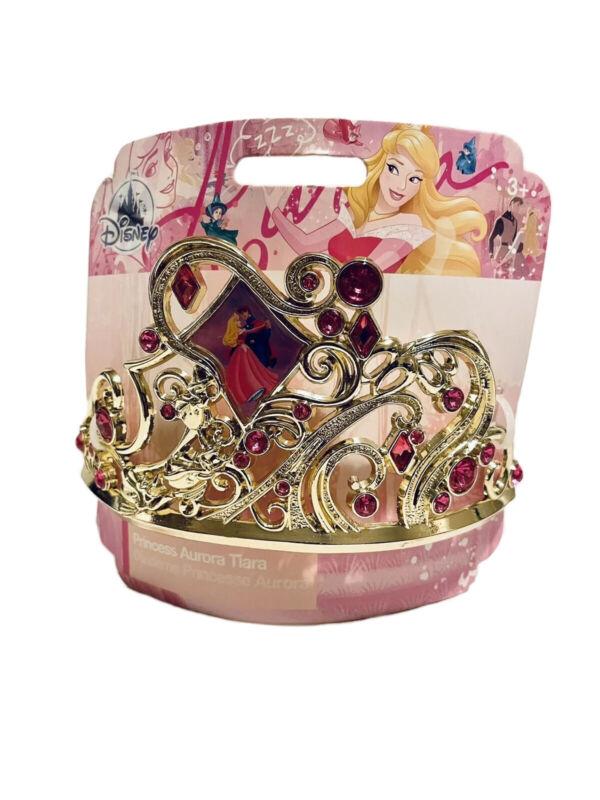 Disney Store Sleeping Beauty Princess Aurora Costume Crown Tiara 3+ NEW
