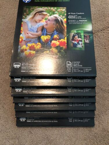 """HP Everyday Photo Paper - Glossy Brillante 50 sheets 8.5 x 11"""" - Q8723A - Sealed"""