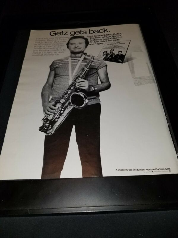 Stan Getz The Best Of Two Worlds Rare Original Promo Poster Ad Framed!
