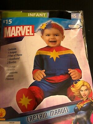 12 Month Baby Halloween Costume (Halloween Costume Infant Marvel Captain Marvel 0-6 or 6-12 month or 12-18 month)